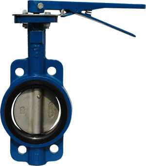 JIS 10K Wafer Type API609 Butterfly Valve With Lever Operator